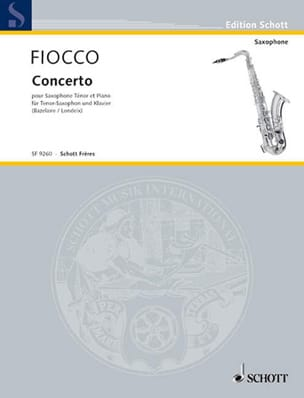 J.H. Fiocco - Concerto For Cello - Sheet Music - di-arezzo.com