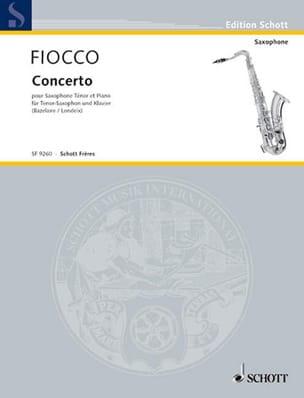 J.H. Fiocco - Concerto For Cello - Sheet Music - di-arezzo.co.uk