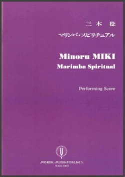 Minoru Miki - Marimba Spiritual - Score - Sheet Music - di-arezzo.co.uk