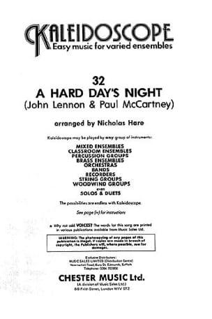 Lennon John / McCartney Paul - A Hard Day's Night - Kaleidoscope N ° 32 - Sheet Music - di-arezzo.com