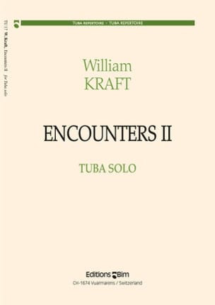 William Kraft - Encounters II - Partition - di-arezzo.fr