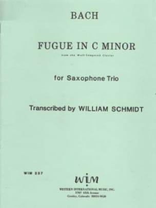 Fugue In C Minor - BACH - Partition - Saxophone - laflutedepan.com