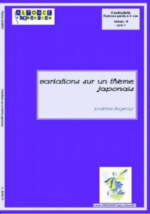 Patrice Legeay - Variations on a Japanese theme - Sheet Music - di-arezzo.co.uk