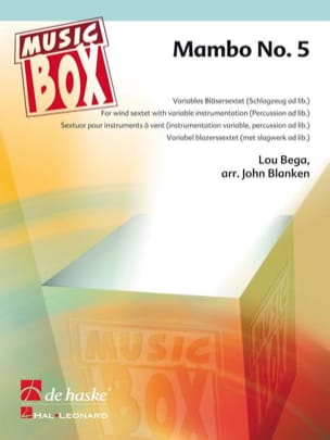 Mambo n° 5 - music box Lou Bega Partition ENSEMBLES - laflutedepan