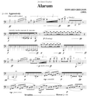Alarum Edward Gregson Partition Tuba - laflutedepan