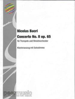 Nicolas Bacri - Concerto N° 2 Opus 65 - Partition - di-arezzo.fr