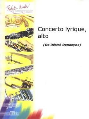Concerto Lyrique - Désiré Dondeyne - Partition - laflutedepan.com