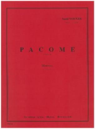 Pacôme - Sami Younès - Partition - Marimba - laflutedepan.com