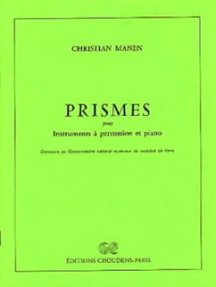 Prismes Christian Manen Partition Multi Percussions - laflutedepan