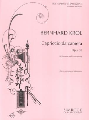 Bernhard Krol - Capriccio da camera opus 35 - Partition - di-arezzo.fr