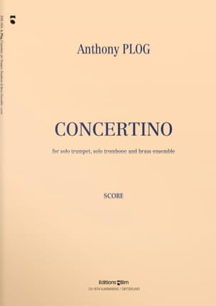 Concertino - Parties Anthony Plog Partition laflutedepan