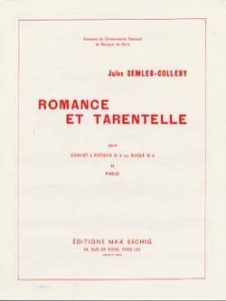 Romance Et Tarentelle - Jules Semler-Collery - laflutedepan.com