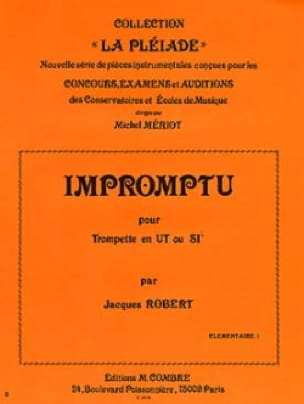 Jacques Robert - Impromptu - Partition - di-arezzo.fr