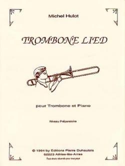 Trombone Lied Michel Hulot Partition Trombone - laflutedepan