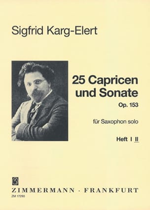 Sigfrid Karg-Elert - 25 Capricen & Sonate Opus 153 - Volume 2 - Partition - di-arezzo.fr