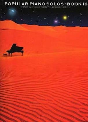 - Popular Piano Solos Book 16 - Sheet Music - di-arezzo.com