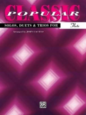 John Cacavas - Classic Popular Solo, Duo, Trio For Flute - Sheet Music - di-arezzo.co.uk