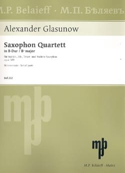 Alexander Glazounov - Quartet Opus 109 - Parts - Sheet Music - di-arezzo.co.uk