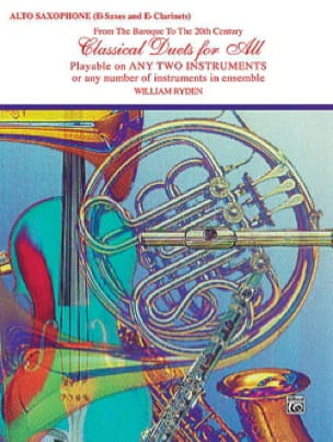 Classical Duets For All Partition Saxophone - laflutedepan