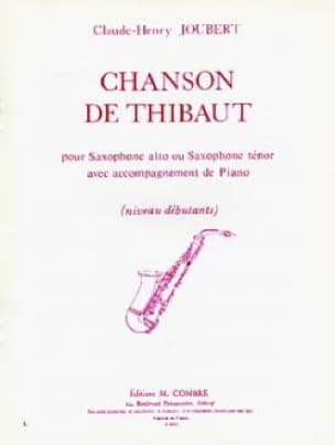 Claude-Henry Joubert - Thibaut's song - Sheet Music - di-arezzo.com