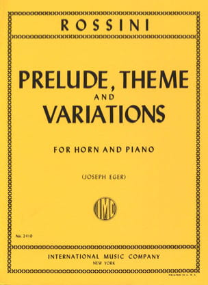 Gioacchino Rossini - Prelude Theme - Variations - Sheet Music - di-arezzo.co.uk