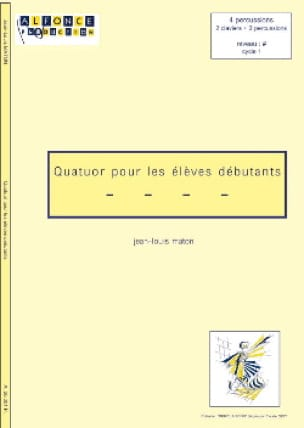 Quatuor Pour les Elèves Débutants Jean-Louis Maton laflutedepan