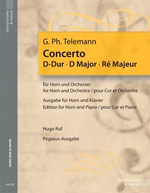 Concerto en ré majeur - TELEMANN - Partition - Cor - laflutedepan.com