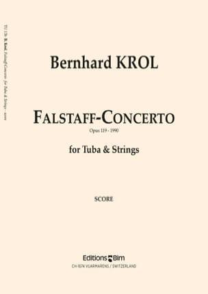 Falstaff-Concerto Opus 119 Bernhard Krol Partition Tuba - laflutedepan
