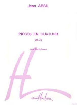Pièces En Quatuor Opus 35 Jean Absil Partition laflutedepan