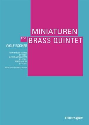 Wolf Escher - Miniaturen - Partition - di-arezzo.fr