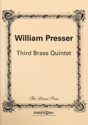 William Presser - Third Brass Quintet - Partition - di-arezzo.fr