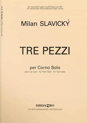 Tre Pezzi - Milan Slavicky - Partition - Cor - laflutedepan.com