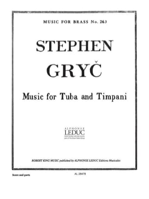 Stephen Gryc - Music For Tuba And Timpany - Partition - di-arezzo.fr