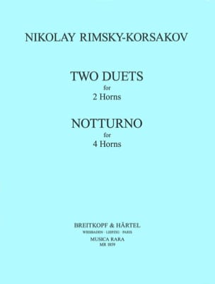 Nicolai Rimsky Korsakov - 2 Duets 2 Horns Notturno 4 Horns - Sheet Music - di-arezzo.co.uk