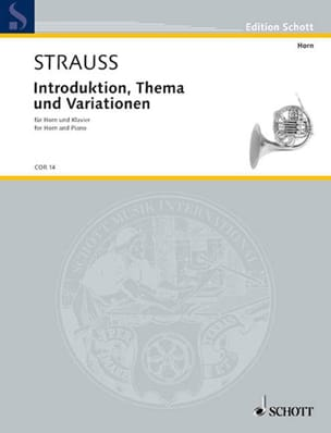 Richard Strauss - Introduction, Thème Et Variations - Partition - di-arezzo.fr