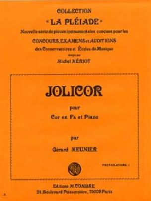 Gérard Meunier - Jolicor - Partition - di-arezzo.fr