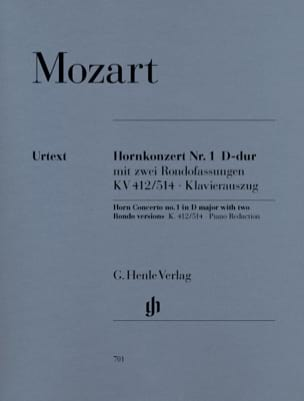 MOZART - Hornkonzert Nr. 1 D-Dur KV 412/514 - Sheet Music - di-arezzo.co.uk