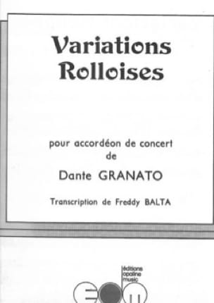 Dante Granato - Rolloises Variations - Sheet Music - di-arezzo.co.uk