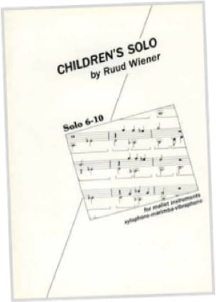 Ruud Wiener - Children's Solos 6-10 - Sheet Music - di-arezzo.co.uk