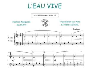 L'Eau Vive Guy Béart Partition Chanson française - laflutedepan