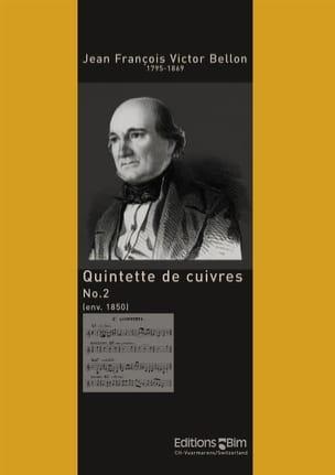 Jean François Victor Bellon - Quintette de Cuivres N° 2 - Partition - di-arezzo.fr