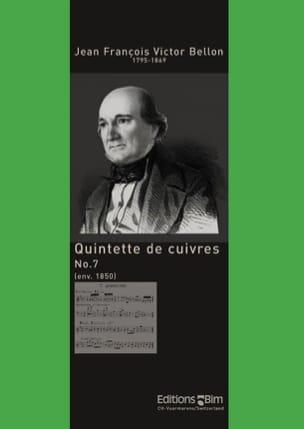 Jean François Victor Bellon - Quintette de Cuivres N° 7 - Partition - di-arezzo.fr