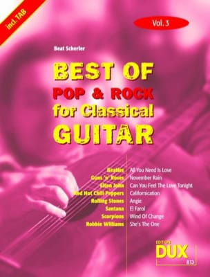 Best of pop & rock for classical guitar volume 3 laflutedepan
