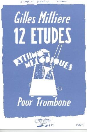 12 Etudes Rythmo Mélodiques Gilles Millière Partition laflutedepan