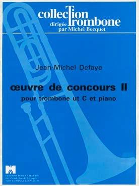 Jean-Michel Defaye - Oeuvre de Concours 2 - Partition - di-arezzo.fr