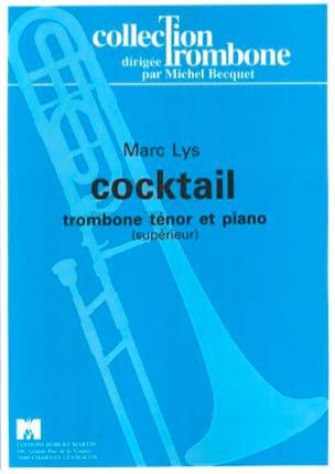 Cocktail - Marc Lys - Partition - Trombone - laflutedepan.com