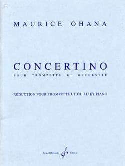 Concertino Maurice Ohana Partition Trompette - laflutedepan
