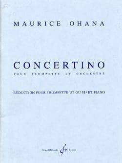 Maurice Ohana - Concertino - Partition - di-arezzo.fr