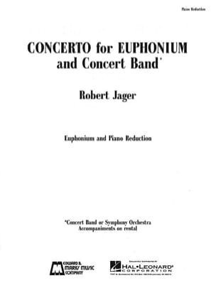 Robert Jager - Concerto For Euphonium - Partition - di-arezzo.fr
