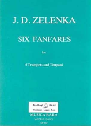 6 Fanfares J.D Zelenka Partition Trompette - laflutedepan